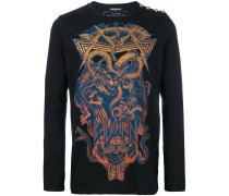 panther and snake print sweater