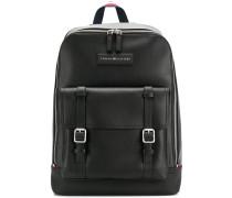 buckle logo backpack