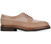 Derby-Schuhe mit Wolleinsatz