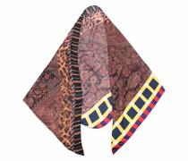 Schal mit gestreiftem Rand