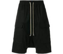 'Cargo Pods' Shorts mit tiefem Schritt