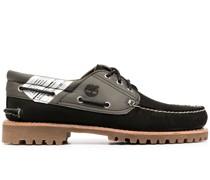 Loafer mit Kontrasteinsätzen