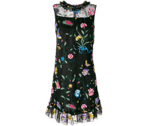 Flossie floral embroidered frill detail dress