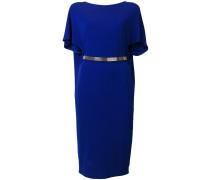 flared sleeve belt dress
