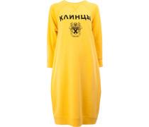 Mittellanges Sweatshirtkleid mit Print