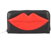 Portemonnaie mit Lippen-Motiv