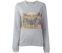Sweatshirt mit Schmetterlings-Print