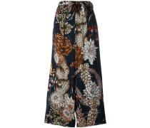 Ausgestellte Hose mit Print - women - Viskose