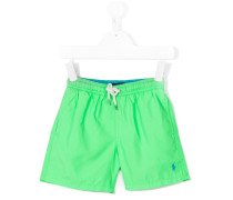 embroidered logo swim shorts - kids - Polyester