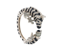 'Zebra' Armreif mit Swarovski-Kristallen