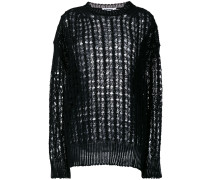loose holey knit jumper