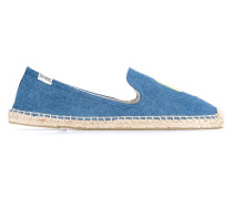 Denim Espadrille with Ice Lolly Embroidery