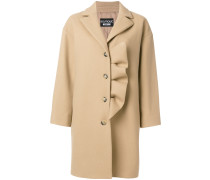Einreihiger Mantel mit Rüschen
