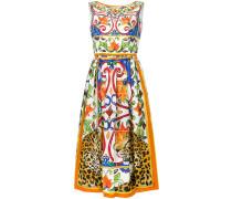 printed flared dress