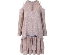 Schulterfreies Kleid im Lagen-Look