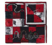 snakes and ladder print foulard - men