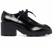 Wallabee mid-heel lace-up shoes