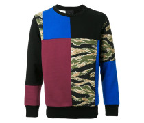 Sweatshirt im Patchwork-Design