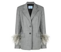 ostrich feather cuff jacket