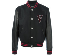 Collegejacke mit Logo-Patch