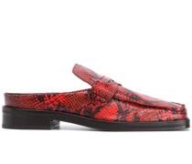 Loafer mit Schlangenleder-Print