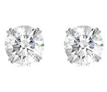 18kt Weißgoldohrstecker mit Diamanten