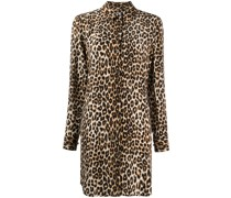 Hemdkleid mit Leoparden-Print