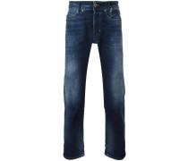 Schmale Jeans mit Farbverlauf