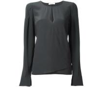 keyhole detail blouse