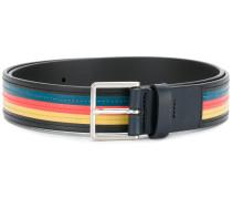 striped detail belt