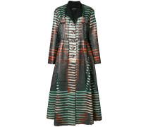 Ausgestellter Mantel mit Metallic-Effekt