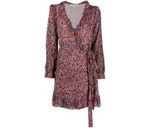 paisley print shirt dress