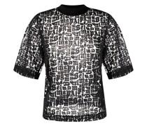 T-Shirt mit Ausbrenner-Muster
