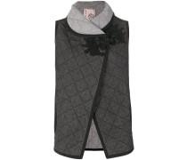 denim quilted waistcoat