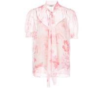 Sheer-Bluse mit Blumen-Print