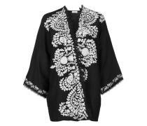 P.A.R.O.S.H. contrast embroidered kimono jacket