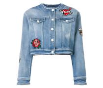 applique patch denim jacket