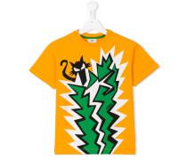 T-Shirt mit Katzen-Print - kids