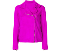 off centre zipped jacket