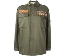 Military-Jacke mit Stickerei