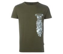 safety pin charm print T-shirt