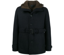 shearling lined belted jacket