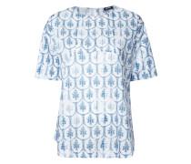 T-Shirt mit floralem Print - women - Baumwolle