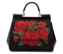 'Sicily' Handtasche mit Canvas-Einsatz