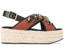 Sandalen in Espadrilles-Optik