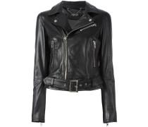 belted biker jacket