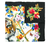 Floraler 'Tiger' Seidenschal