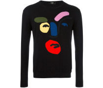 abstract face jumper