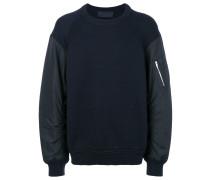 Sweatshirt mit wattierten Ärmeln