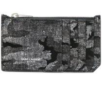Kartenetui mit Camouflage-Print